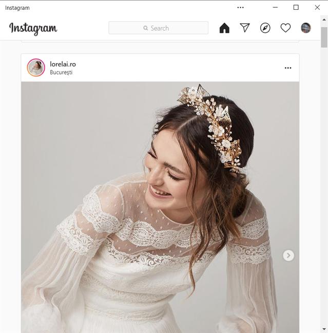 Aplicația Instagram pentru Windows 10 nu-ți permite să postezi poze