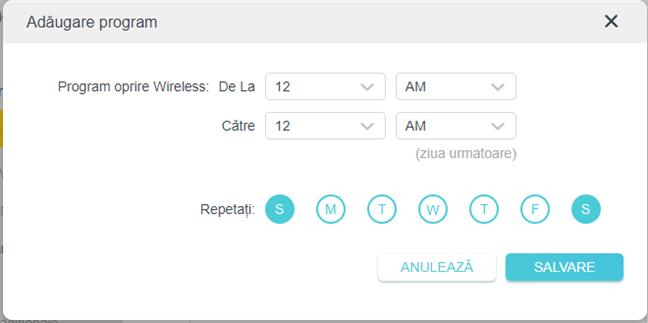 Configurează programul pentru wireless