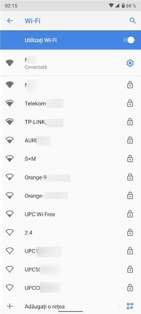 Apasă pe orice rețea pentru a-i schimba setările de proxy pentru Wi-Fi de pe Android