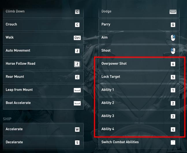 Butoanele laterale asociate cu diverse acțiuni într-un joc