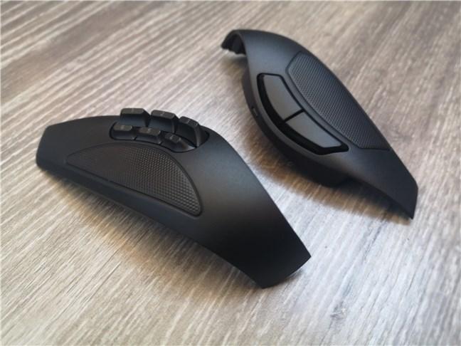 Razer Naga Pro: panouri laterale cu 2 și 6 butoane