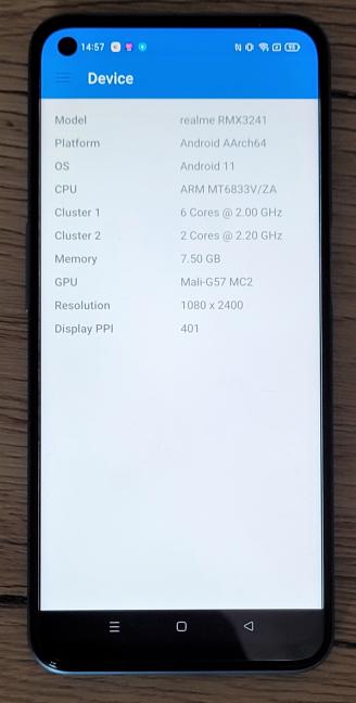 Detalii despre hardware-ul din realme 8 5G
