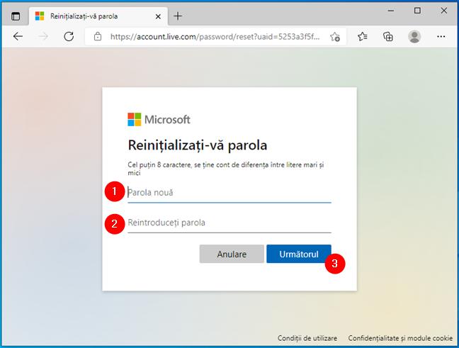 Cum resetezi parola Microsoft