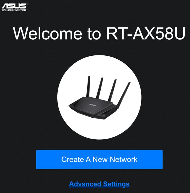 Routerul ASUS este gata pentru a fi configurat din nou