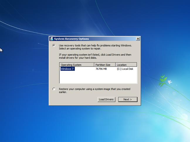 Alegerea sistemului de operare de recuperat