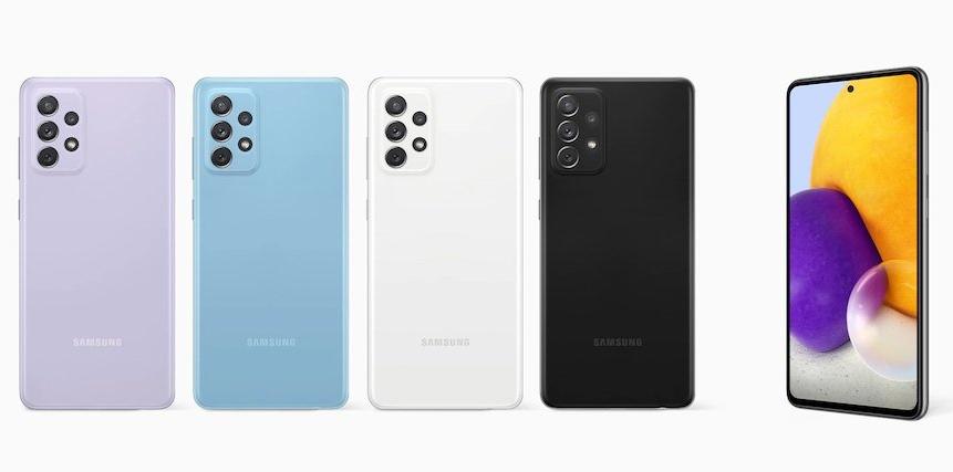Culorile disponibile pentru Samsung Galaxy A72