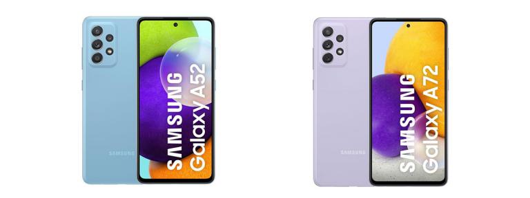 Samsung Galaxy A52 si A72