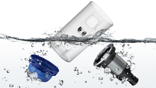 Samsung JET - Rezervor de praf lavabil