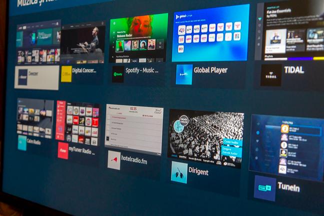 Numeroase platforme de streaming sunt disponibile în Apps