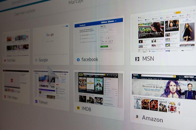 Browserul integrat completează suita de aplicații și facilități