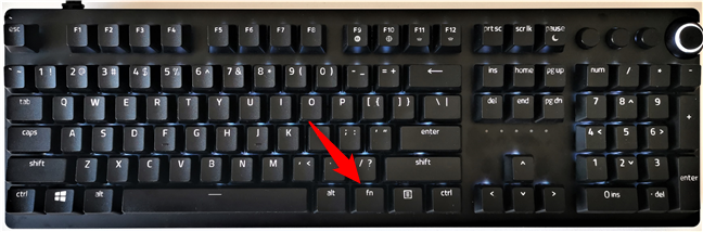 Tasta Fn (Funcție) de pe o tastatură