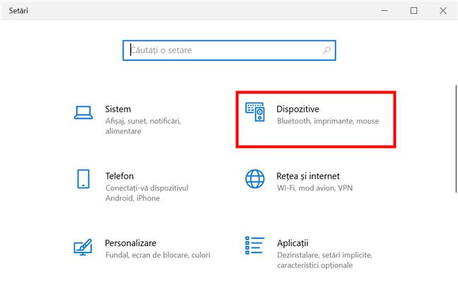 În Windows 10, schimbă scurtătura pentru limba tastaturii din Setările Dispozitivelor
