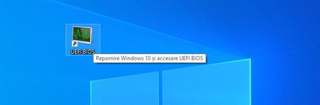 Descărcare scurtătură pentru UEFI BIOS