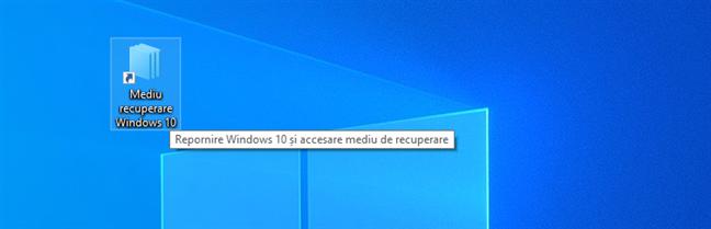 Descarcă o scurtătură către mediul de recuperare al Windows 10 (Advanced Boot Menu)