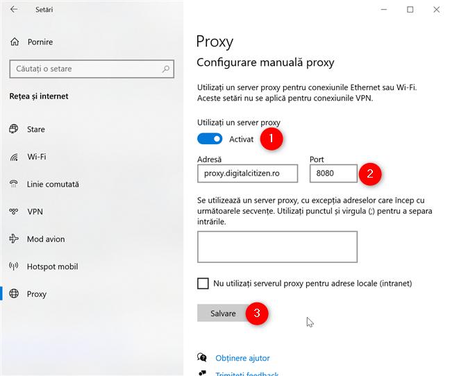 Chrome folosește setările proxy din Windows 10