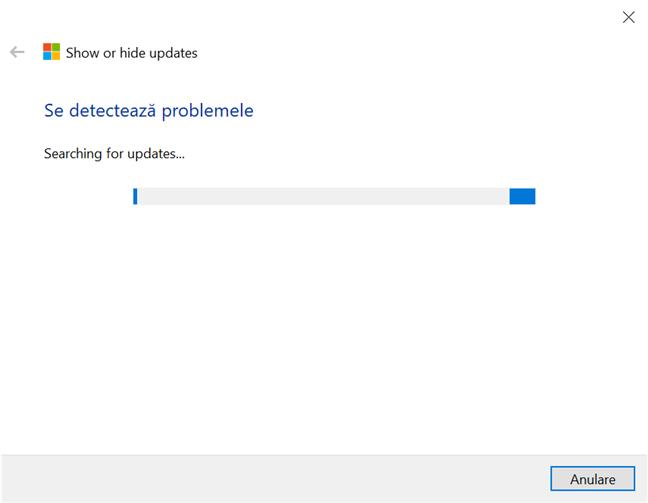 Lasă aplicația de depanare să caute actualizări disponibile în Windows 10