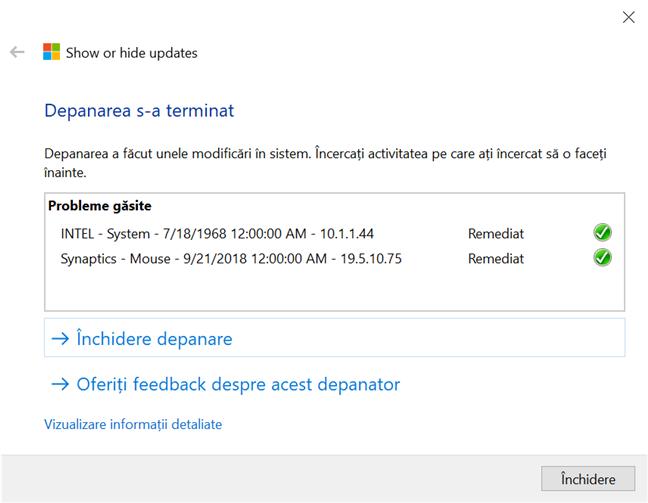 Orice actualizare de Windows 10 pe care o blochezi apare ca remediată