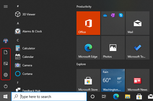 Folderele implicite din Meniul Start al Windows 10