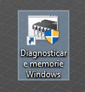 O comandă rapidă pentru Diagnosticare Memorie Windows
