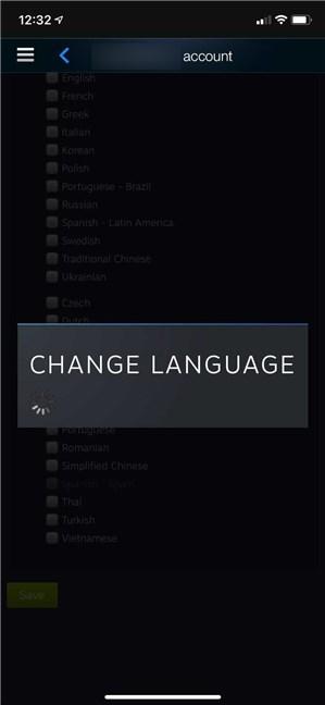 Steam modifică imediat limba în care este afișat