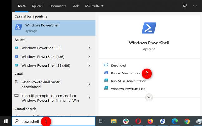 Deschide PowerShell ca administrator în Windows 10