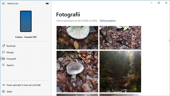 Vezi Fotografii din Android pe Windows 10, cu aplicația Telefonul dvs.