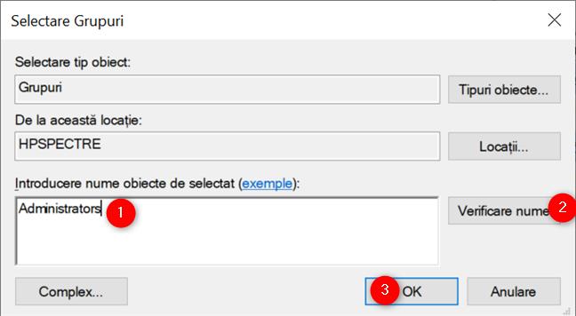 Adaugă un utilizator la Administrators în Windows 10