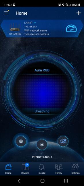 Aplicația ASUS Router e compatibilă cu ASUS TUF-AX5400