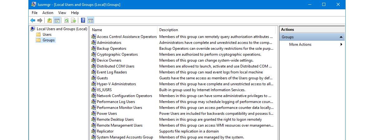 Grupuri si conturi utilizator