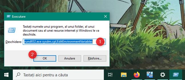 rundll32.exe sysdm.cpl,EditEnvironmentVariables