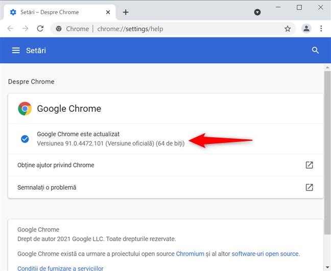 Verifică versiunea de Chrome pe Mac și Windows