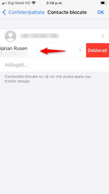 Cum deblochezi pe cineva în WhatsApp pentru iPhone