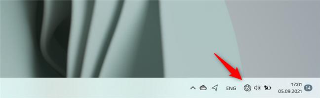 Pictograma de rețea și internet de pe bara de activități a Windows 11