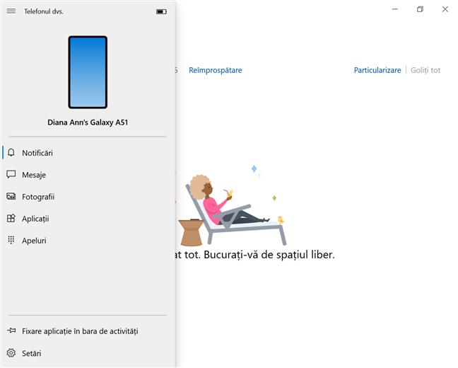 Folosește-ți dispozitivul Samsung Galaxy în Windows 10