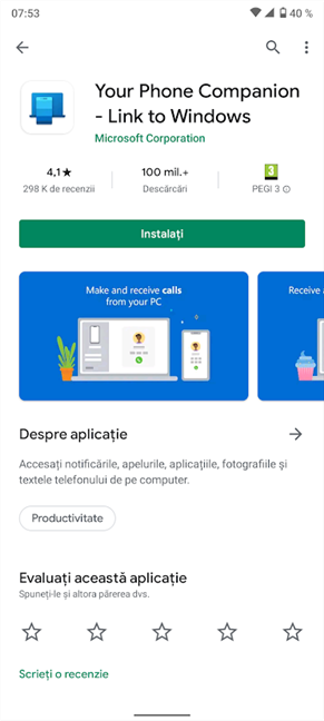 Obține aplicația din Magazinul Google Play