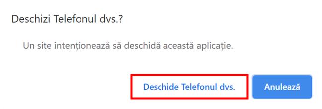 Deschide Telefonul dvs. din browser