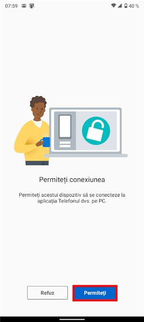 Permite asocierea Android-ului tău cu Windows 10