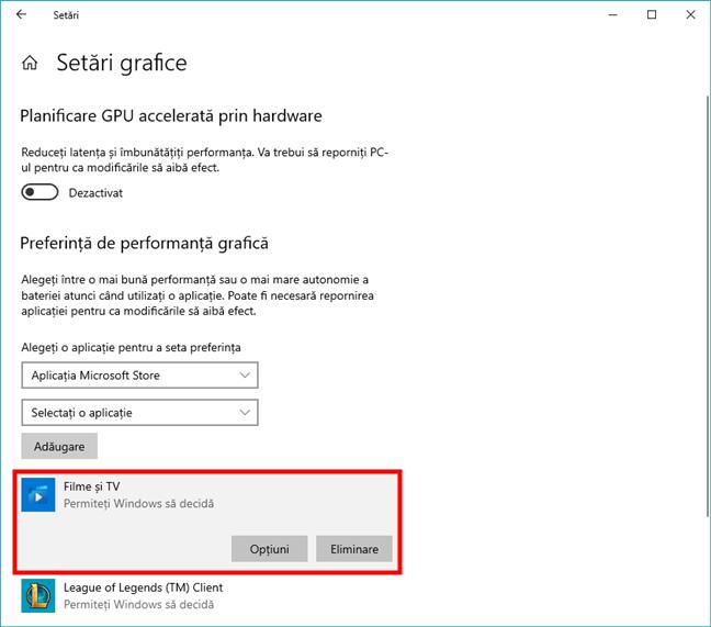 Aplicația din Microsoft Store a fost adăugată la listă