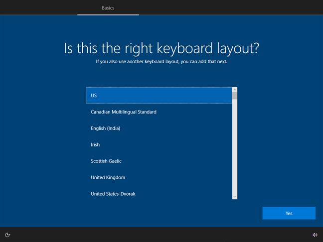 Alege limba de la tastatură pe care vrei să o folosești