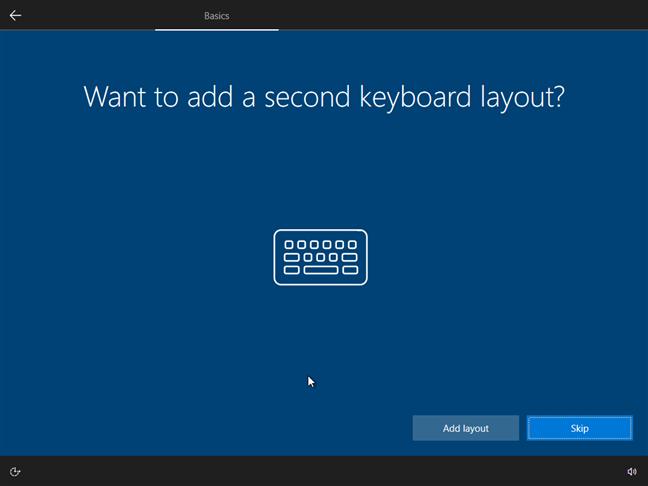 Alege dacă vrei să adaugi o a doua limbă pentru tastatură