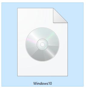 Un fișier ISO cu instalarea de Windows 10