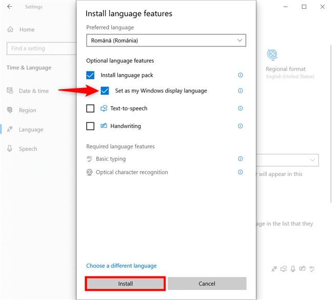 Cum schimbi imediat limba din Windows 10