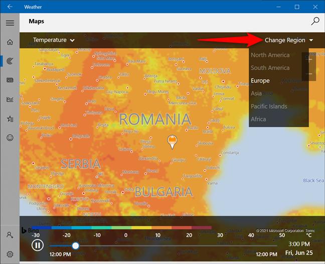 Verifică harta vremii pentru altă regiune