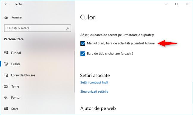 Windows 10 October 2020 Update: Setează culoarea de accent pentru dale