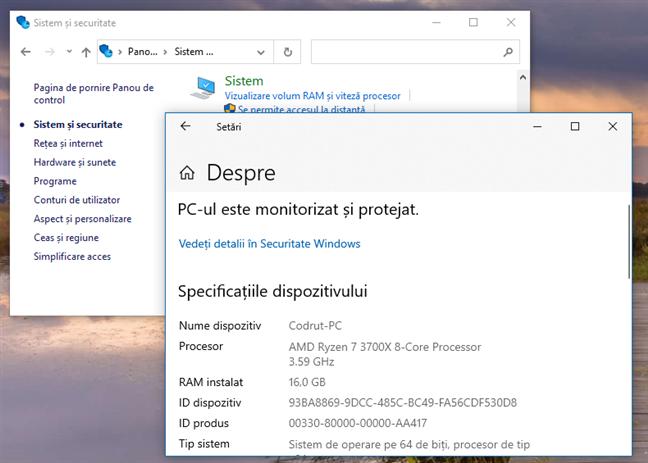 Windows 10 October 2020 Update: Panoul Sistem nu mai este disponibil în Panoul de control
