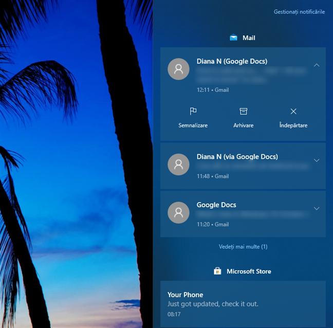 Windows 10 October 2020 Update: Sistemul de notificări primește îmbunătățiri