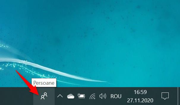Pictograma Persoane din Windows 10