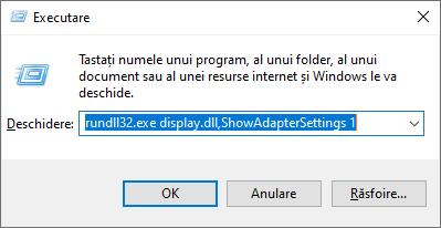 rundll32.exe display.dll,ShowAdapterSettings 1