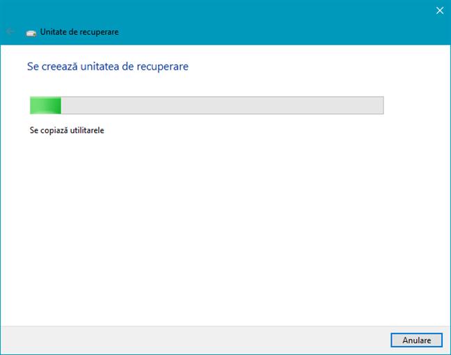 Unitate de recuperare pentru Windows 10