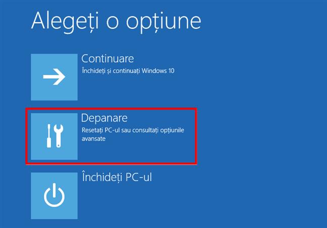 Depanare Windows 10: Resetați PC-ul sau consultați opțiunile avansate